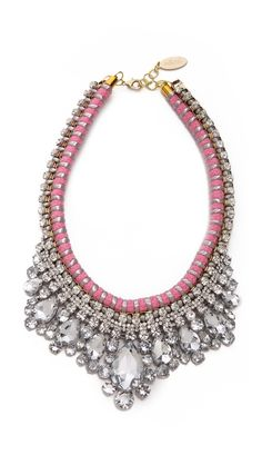 Adia Kibur Crystal Adorned Choker Necklace Accessories >  Jewelry >  Necklaces >  Statement DESCRIPTION Graduated crystals lend luxe shine to a charming Adia Kibur necklace, constructed with a colorful, braided base.  Imported, China.  MEASUREMENTS Length: 17-18.5in / 43-47cm