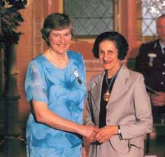 Pioneering Australian Antarctic Scientist, Dr Patricia Selkirk, (left) Australian Antarctic Medal, 2004 recipient with Professor Marie Bashir, Governor of New South Wales