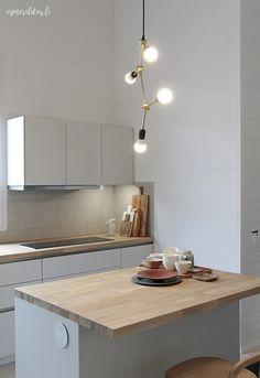 Asuntomessut 2016 - TOP 3 Kohteet | Esmeralda's Cabin Homes, Small Apartments, Interior Lighting, Sweet Home, Kitchen Cabinets, Ceiling Lights, Interior Design, House, Home Decor