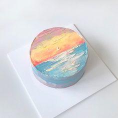 Pretty Birthday Cakes, Pretty Cakes, Cake Birthday, Simple Cake Designs, Korean Cake, Pastel Cakes, Cute Desserts, Just Cakes, Love Cake