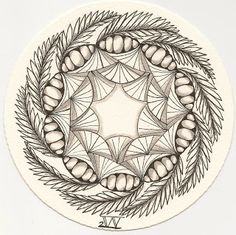 Folding Drifts: Zendala Dare #45: Frondolicious for Sherry