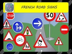 In this set, you will get 26 cliparts, road signs related.   ✔︎ 13 French road signs ✔︎ 6 French blank road signs ✔︎ 3 American road signs ✔︎ 4 American blank road signs  Bonus: you will also get the landscape + the sign post that will allow you to highly personalize your documents.
