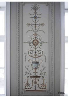 Alfray painting in the architectural and stucco mirror