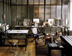 Roman and Williams. I would die for this home office.