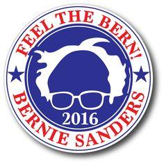 Bernie Sanders: V3 Feel The Bern Burn Bernie Sanders President Campaign Bumper Sticker Democrat -> BUY IT NOW ONLY: $2.99 on eBay!