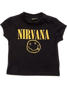 Tee-shirt 'Nirvana' noir Bébé garçon