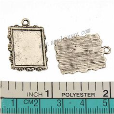 Zinc Alloy Square Charms,Cabochon Setting,Plated,Cadmium And Lead Free,Various Color For Choice,Approx 24.5*18*1.8mm,Area:Approx 16.5*13.5mm,Hole:Approx 2mm,Sold By Bags,No 010080