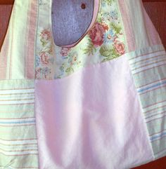 Pink Fabric Mosaic Hobo Bag by daydaysdesigns on Etsy, $15.00