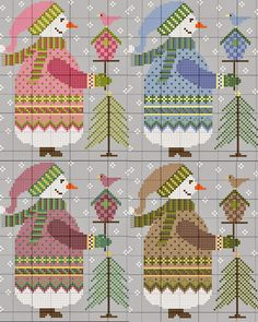 Free cross stitch patterns from gazette94: BONHOMME DE NEIGE 2014