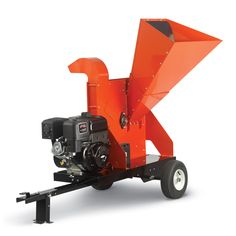 """DR Wood Chipper 21.0 Self-Feeding, Electric Start Our most powerful self-feeding chipper, this beast devours branches up to 5.75"""" in diameter. Electric-starting is standard. Available options include a road-towing kit and an extended discharge chute. #drpower #woodchipper"""
