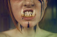 DIY Beast Monster Teeth · Fake Denture Prosthetic SFX with Nail Acrylic, Smooth On, Monster Clay · Orc Troll WereWolf Fangs · Tutorial Dentadura Colmillos by Keevanski · Halloween Ideas