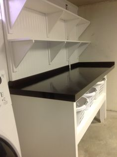 Laundry Folding Table And Shelving