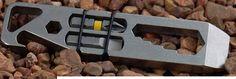 Edc Titanium pocket pry bar bottle opener multitool SAE