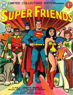 Super Friends was DC Comics' Justice League as a Saturday morning cartoon. This book was a tabloid-size salute to the show by its character designer Alex Toth. Cartoon Cartoon, Vintage Cartoon, Reading Cartoon, Cartoon Characters, 80s Cartoon Shows, Old School Cartoons, Cool Cartoons, 1970s Cartoons, Animated Cartoons