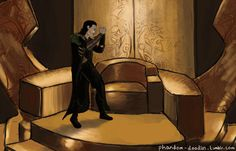 """""""I cannot believe that oaf fell for it again!""""  In which Loki realises that his plan worked and he is King…for now."""