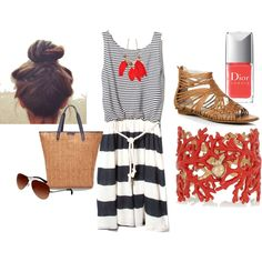 summer #7 beach time!, created by blckprl on Polyvore