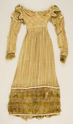 Metropolitan Museum of Art, item 26.56.1, c1817 silk dress, italian