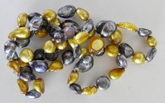 Gold and Silver Freshwater Pearls by veryfrenchbydesign on Etsy, $225.00