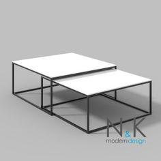 modern coffee table - Stolik kawowy DUO (wsuwany) - biały połysk Table, Furniture, Home Decor, Living Room, Decoration Home, Room Decor, Tables, Home Furnishings, Home Interior Design