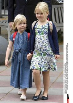 Princess Alexia and Princess Amalia of the Netherlands