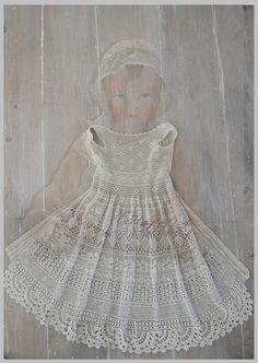 **Crochet dress in gray tint**