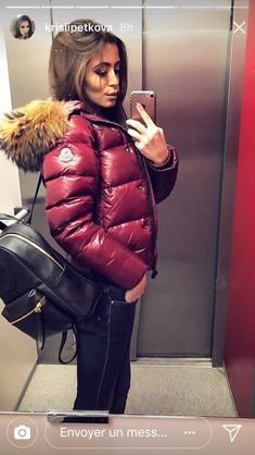 A Complete Guide to Choosing The Perfect Coat That Complements Your Taste This Season - Best Fashion Tips Puffy Jacket, Hooded Jacket, Nylons, Moncler Jacket Women, Winter Jackets, Fur Jackets, Leather Jackets, Down Puffer Coat, North Face Jacket