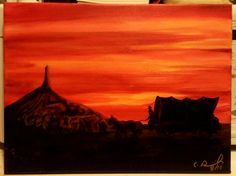 Chimney Rock, Acrylic on canvas, 0 x 13 New pieces: https://www.etsy.com/shop/CBDESIGNWORKS Use FREE SHIP code for free shipping in August