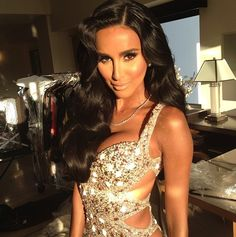 Lilly Ghalichi- flawless makeup by Etienne Ortega.
