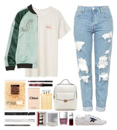 """4.551"" by katrina-yeow ❤ liked on Polyvore featuring Topshop, Opening Ceremony, Golden Goose, Butter London, Maison La Bougie and Korres"