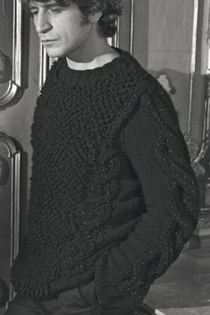 Men's textured and cable knitwear