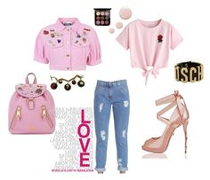 """""""Untitled #39"""" by look-like-good ❤ liked on Polyvore featuring Moschino, WithChic and Topshop"""