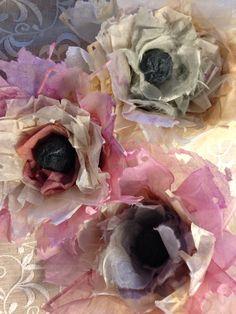 Teabag - Flowers, Paper Art by Natalie Guk