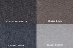 Charm Antrazite / Charm Brun / Charm Denim / Charm Ljusgrå  Från Hovden Charm Anthracite / Charm Brown / Charm Denim / Charm Light Grey From Hovden