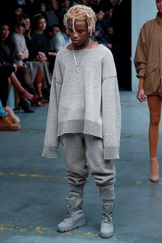 Kanye West x Adidas Originals, Ian Connor in Look #26 - Yeezy Season 1 Fall / Winter 2015 / 2016 show during New York Fashion Week
