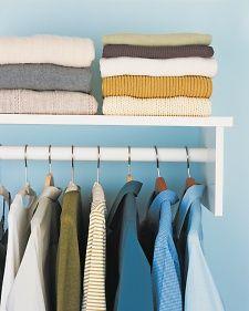 Hanging vs. Folding Clothing - Martha Stewart Home & Garden