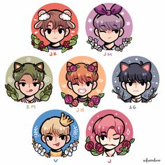 Giving out decent, amazing, wonderful and awesome fanarts of BTS either ships, in groups, individual and in one group! Most of the fanarts are from 'refrainbow' so give credits to him/her. Bts Chibi, Anime Chibi, Bts Bangtan Boy, Bts Jungkook, Taehyung, Fan Art Anime, Disney Stich, Chibi Wallpaper, Fanart Bts