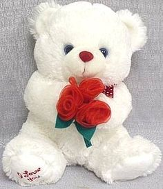 Cute Teddy Bear Pics, Giant Teddy Bear, White Teddy Bear, Teddy Bear Pictures, Teedy Bear, Bear Toy, Cute Images, Cute Pictures, Happy Birthday Bouquet