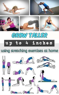Grow taller up to 4 inches using stretching exercises at home