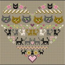 Gallery.ru / All Users albums Olsha lots of cat cross stitch designs