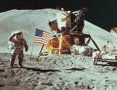 First moon landing by Apollo 11(1969). Armstrong