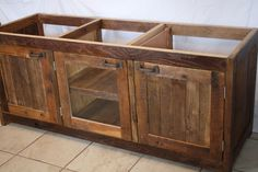 Your Custom Made Rustic Barn Wood Double Vanity, Cabinet, Or Entertainment…
