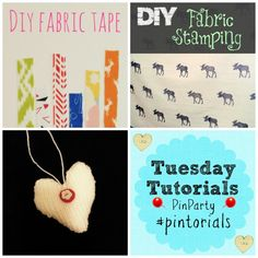 Things I want to make: Tuesday Tutorials linky and pin it party #pintorials Crafts on Sea