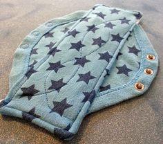 Convert old baby vests into cloth pads - genius! (tutorial)