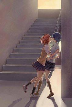 Akuma no riddle - Haru and Tokaku Anime Girlxgirl, Yuri Anime, Anime Nerd, Kawaii Anime, Cute Lesbian Couples, Cute Anime Couples, Riddle Story Of Devil, Akuma No Riddle, Dibujos Tumblr A Color