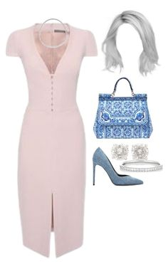 Leaving a photoshoot in West Hollywood by nytown on Polyvore featuring polyvore fashion style Alexander McQueen Yves Saint Laurent Dolce&Gabbana Ileana Makri Meister clothing