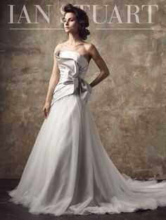 f520bc3a0db A-line Wedding Dresses   Picture Description Ian Stuart 2018 Wedding Dress  – A uniquely draped bodice combined with a soft tulle A line skirt make  this ...