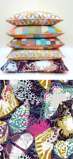 Imogen Heath - amazing colour  Fun pillows