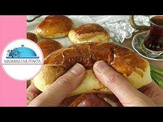 En Yumuşak PAMUK POĞAÇA tarifi+Hamur nasıl Yoğrulur+Püf Noktalar-Masmavi3Mutfakta- - YouTube Hot Dog Buns, Hot Dogs, Yogurt, Sausage, Pancakes, Food And Drink, Breakfast, Desserts, Recipes