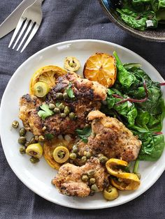 Sautéed Chicken with Olives, Capers and Lemons is a one-pot meal ready in 30 minutes #mediterraneandiet #recipe