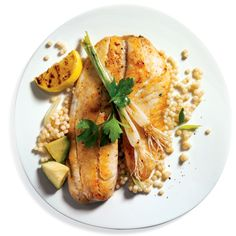 one of my favorite recipes -- Tilapia recipe from Marcus Samuelsson. The restaurateur, author, and winner of Top Chef Masters creates a delish meal that comes in at or under 500 calories, 20 grams of fat, and 650 milligrams of sodium